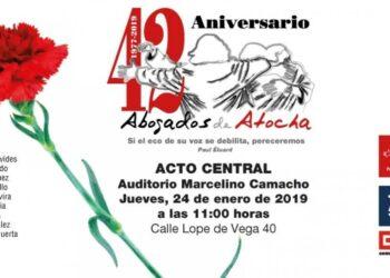 Homenaje a los Abogados de Atocha en Madrid en el 42º aniversario de su asesinato