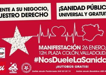 """Campaña: """"Frente a su negocio, Nuestro Derecho: ¡Sanidad Pública, Universal y Gratuita!"""""""