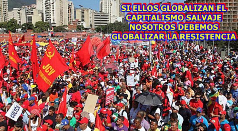 El Partido Comunista de Venezuela (PCV) llama a la rebelión mundial de los pueblos contra el capital