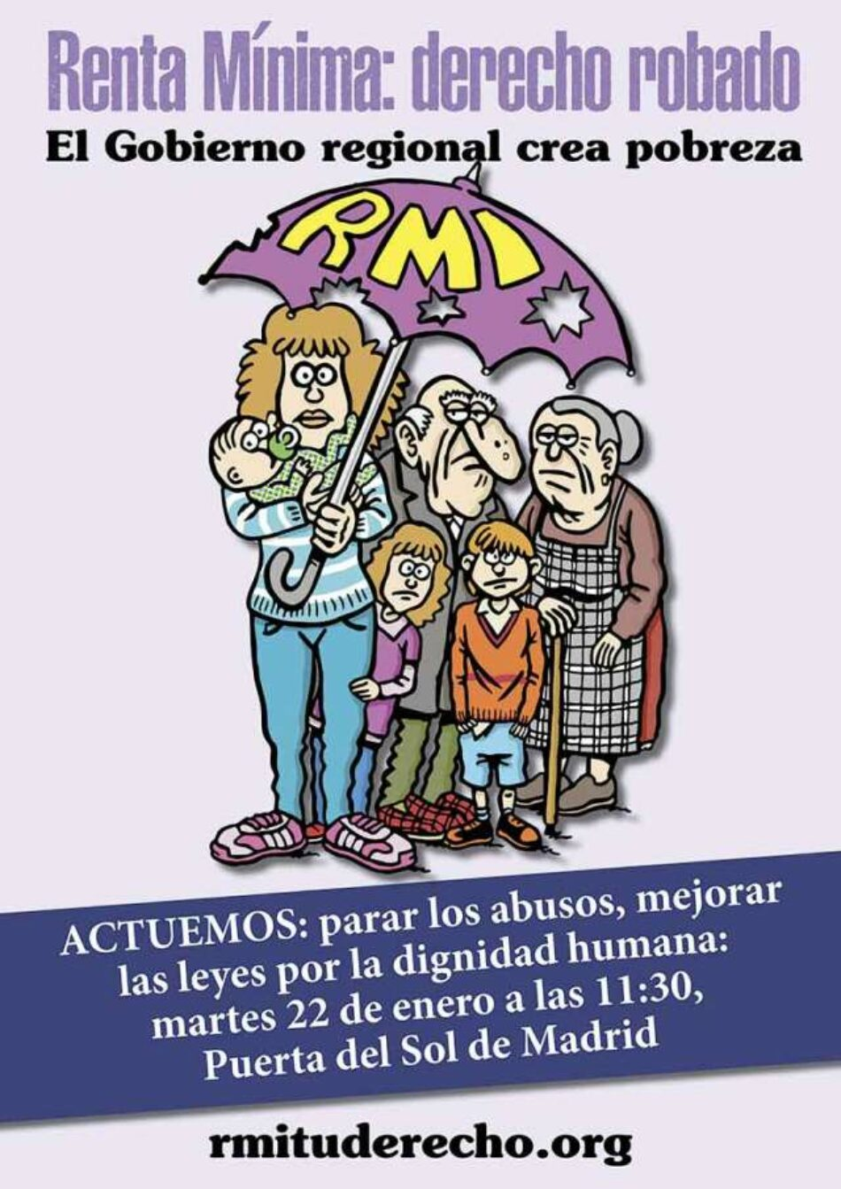 #EsPobreza: colectivos sociales se manifiestan contra el maltrato institucional a las familias demandantes de la renta mínima
