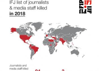 La Federación Internacional de Periodistas (FIP) advierte de que cambió la tendencia a la baja de los asesinatos a periodistas: 94 víctimas en 2018