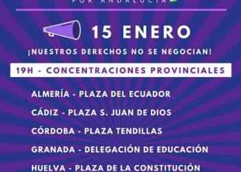 Podemos Andalucía se suma a las manifestaciones convocadas por el movimiento feminista el 15 de enero