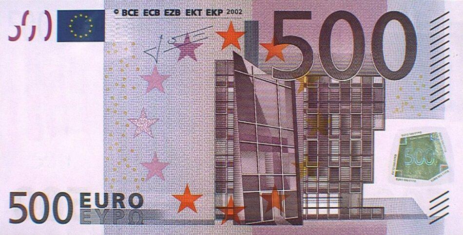 Tras ser pionera en exigir su retirada, IU dirige sendas iniciativas al Gobierno y, desde la Eurocámara, al BCE, para que digan si tomarán más medidas sobre los billetes de 500 euros