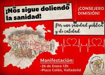 IUCyL apoya y participará en la manifestación por la defensa de la sanidad pública del 26 de enero en Valladolid