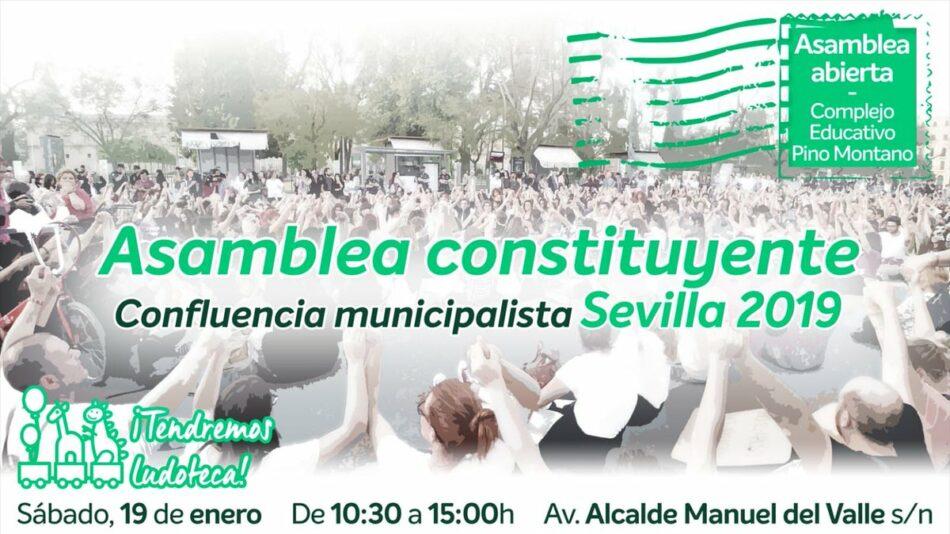 Asamblea constituyente este sábado para empezar a construir una candidatura municipalista del cambio en Sevilla