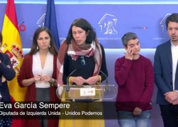"""García Sempere tacha en nombre de IU de """"insuficiente e insatisfactorio"""" cómo cumple el Gobierno su acuerdo con Unidos Podemos en los Presupuestos presentados hoy"""