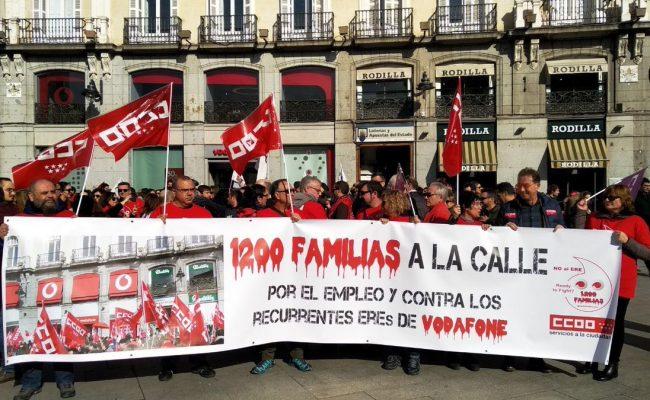 Unidas Podemos muestra su apoyo a la plantilla de Vodafone ante el ERE que plantea la empresa