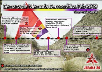 La Asociación Jarama 80 organiza la I Semana de Memoria Democrática