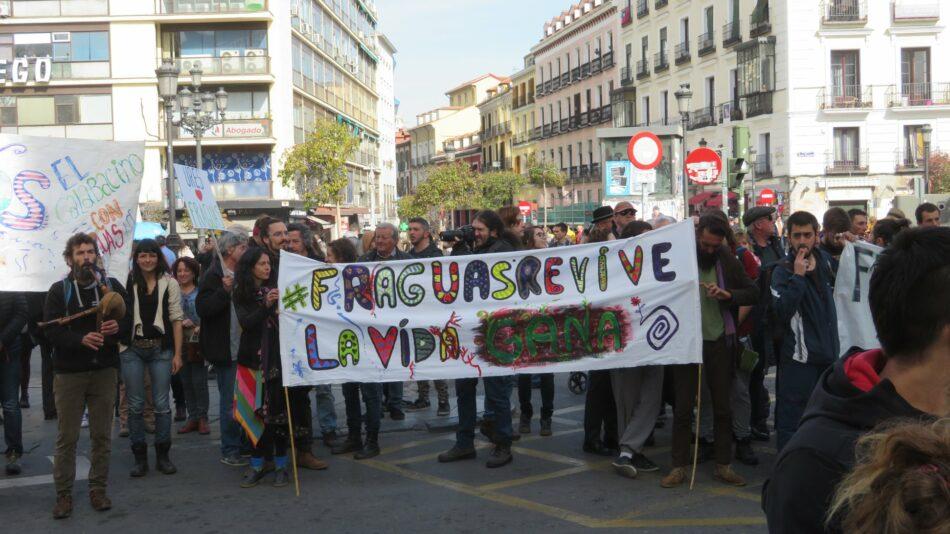 Manifestación en Madrid contra la entrada en prisión de los repobladores de Fraguas