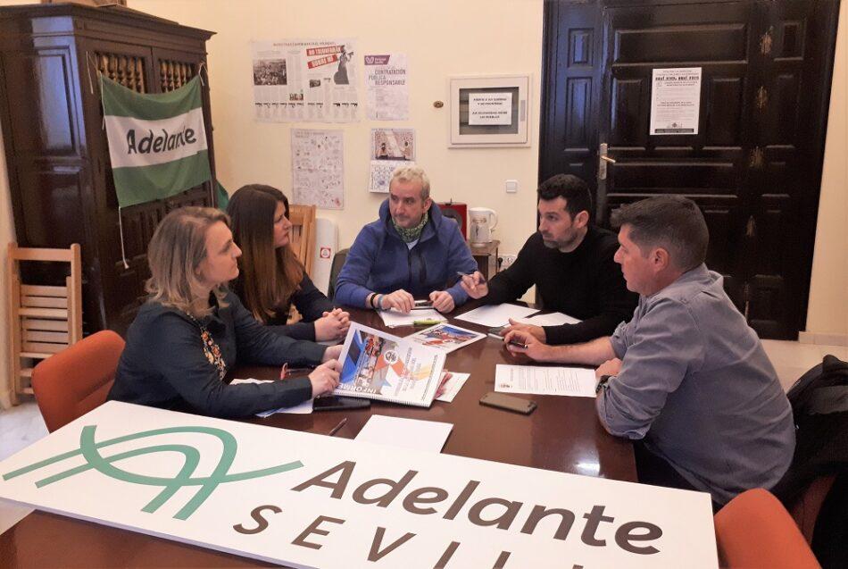 Adelante Sevilla recaba las propuestas del Sindicato Andaluz de Bomberos para dignificar este servicio público