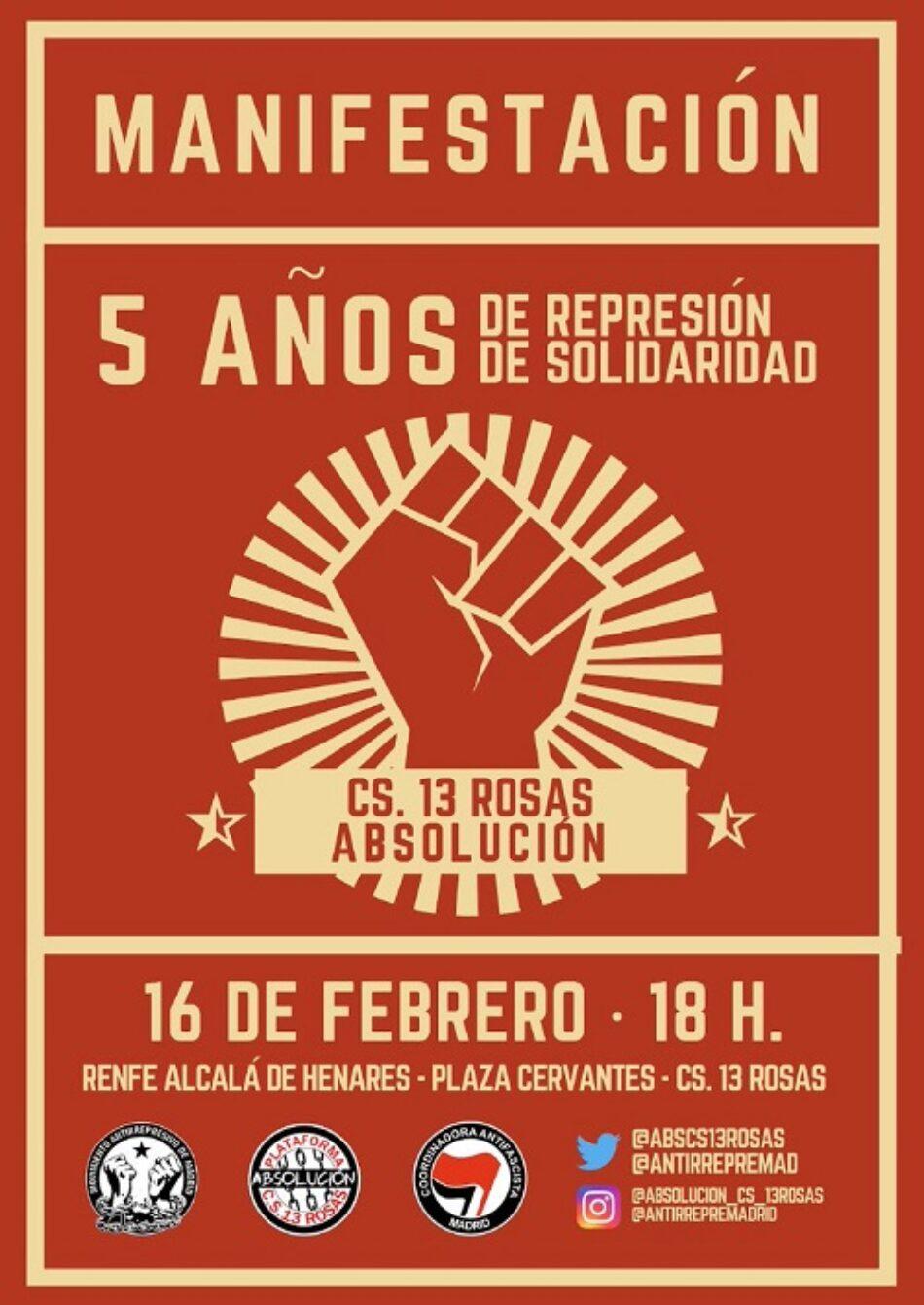 Manifestación este sábado en Alcalá de Henares para exigir la absolución de Elena y Jesús