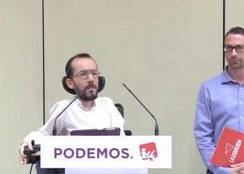 Podemos e IU anuncian el preacuerdo para las elecciones generales y europeas