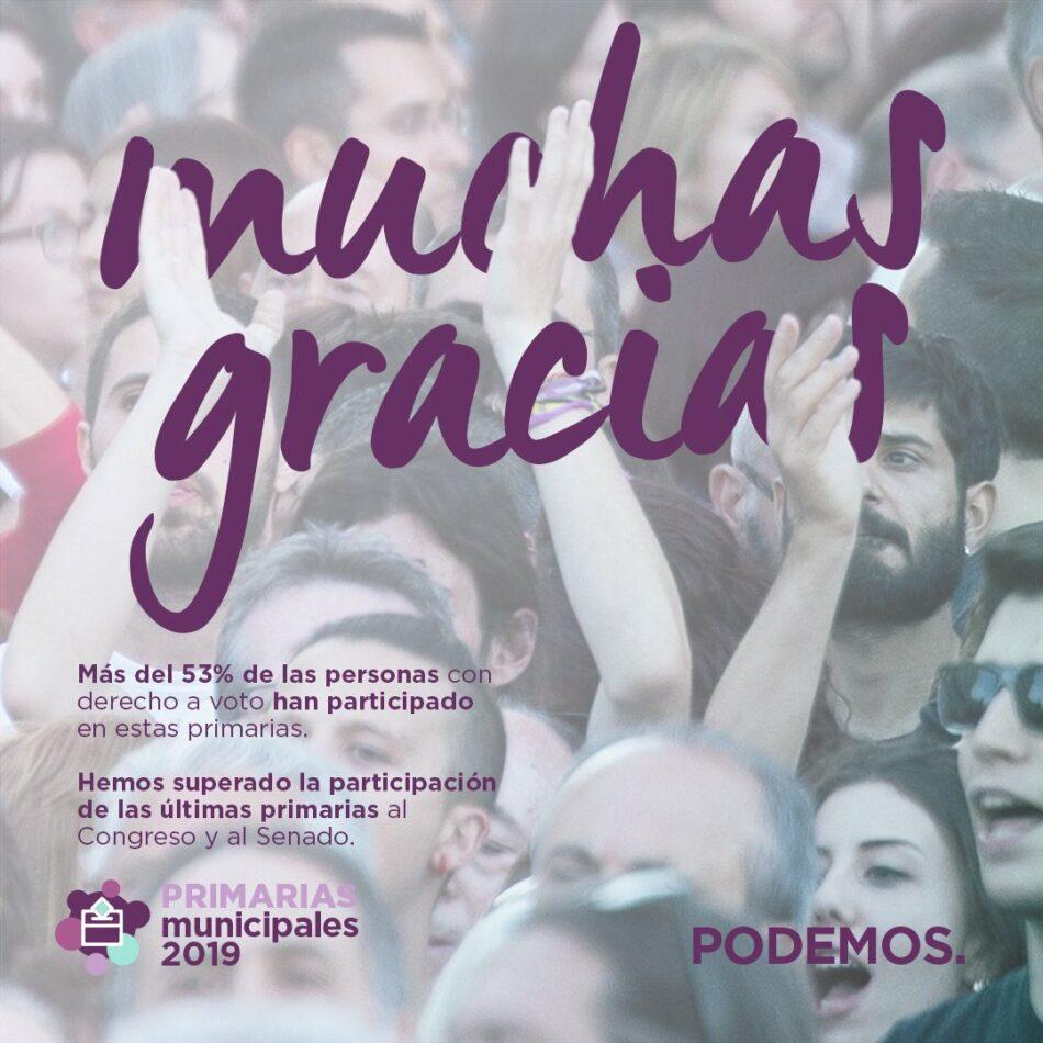 Finalizan las primarias de Podemos para la elección de candidatas y candidatos en varios municipios de Madrid