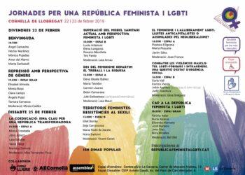 Cornellà de Llobregat acollirà unes jornades feministes i LGBTI el 22 i 23 de febrer