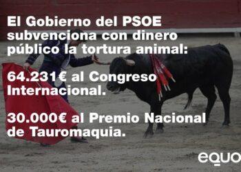 El Gobierno Sánchez justifica con una ley del PP que se siga subvencionando la tauromaquia con dinero público