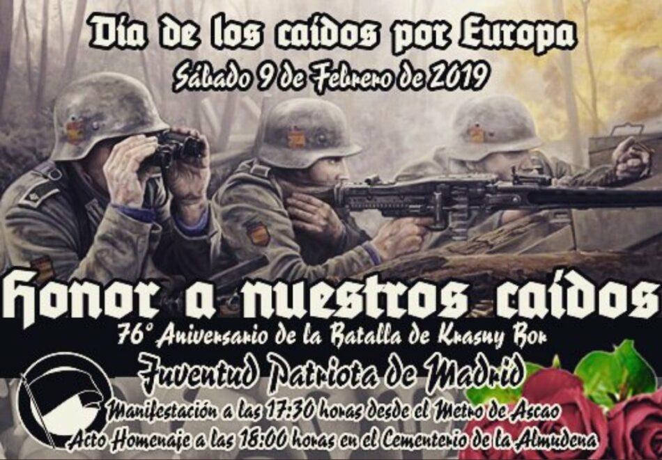 Asociaciones de Ciudad Lineal condenan la marcha neonazi de este sábado, autorizada por la Delegación del Gobierno