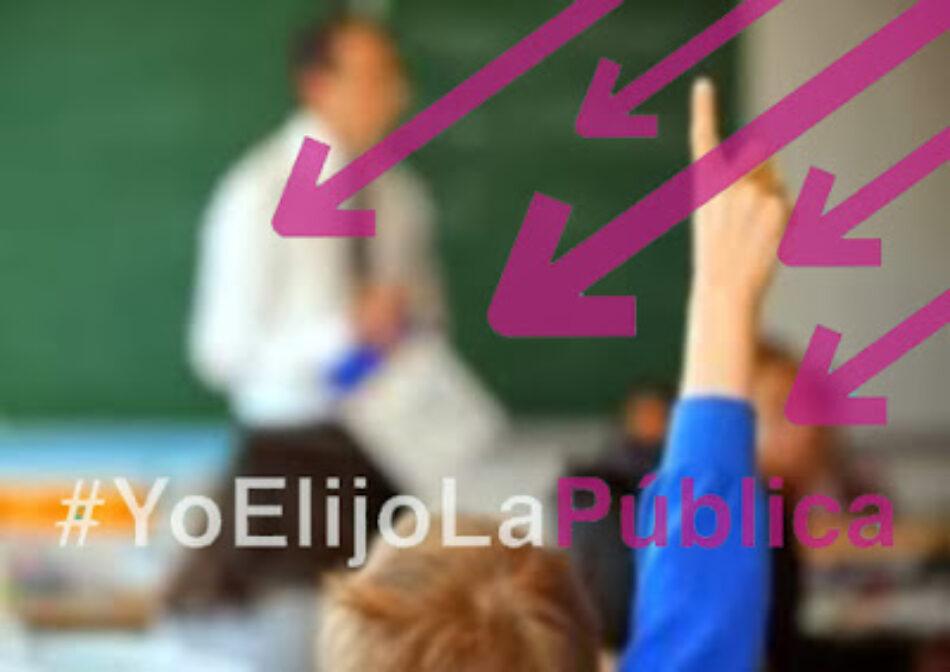 Marea Verde lanza la campaña #YoElijoLaPública