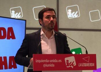 """Garzón anuncia formalmente su """"compromiso y deseo de presentarme como candidato de Izquierda Unida"""" a las próximas elecciones generales del 28A"""