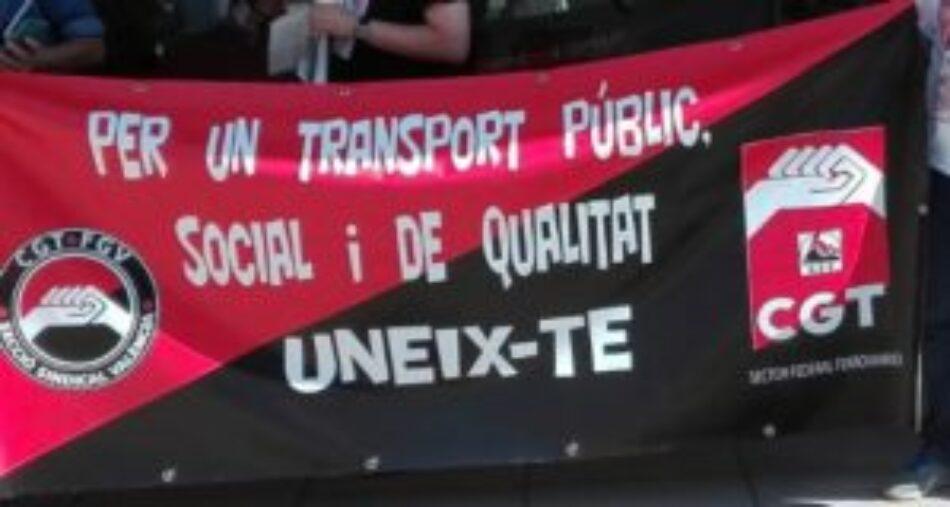 Sector ferroviario de CGT tras los paros parciales de diciembre: «la lucha continúa»