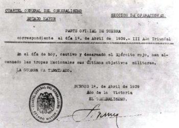 El 1 de Abril se cumplen 80 años del final de la guerra civil: la ARMH pide al Gobierno una condena institucional al golpe de Estado