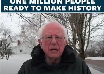 Una semana después de anunciar su candidatura para las presidenciales de 2020, Bernie Sanders cuenta ya con más de un millón de voluntarios inscritos