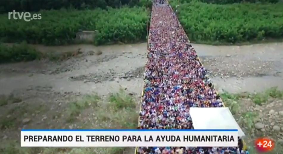 TVE no rectifica: emitió ayer imágenes de 2017 del puente Internacional Simón Bolívar como si fueran actuales, en el marco de la campaña golpista en Venezuela