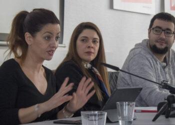 Sira Rego y María Martínez defienden en Berlín sus propuestas como candidatas de IU al Parlamento Europeo