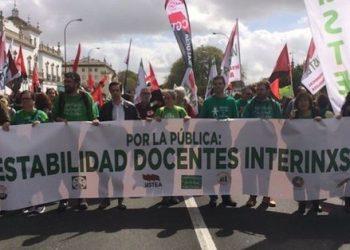 Marea Verde denuncia las irregularidades del nuevo sistema de interinidades que deja las aulas sin profesores