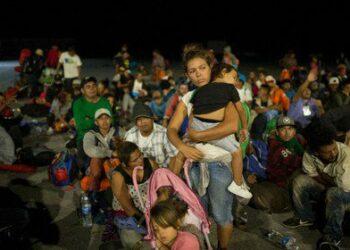 Parte desde Chiapas nueva caravana de migrantes centroamerican@s rumbo a EEUU