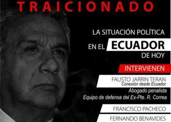 Acto público «Un pueblo traicionado. La situación política en Ecuador»