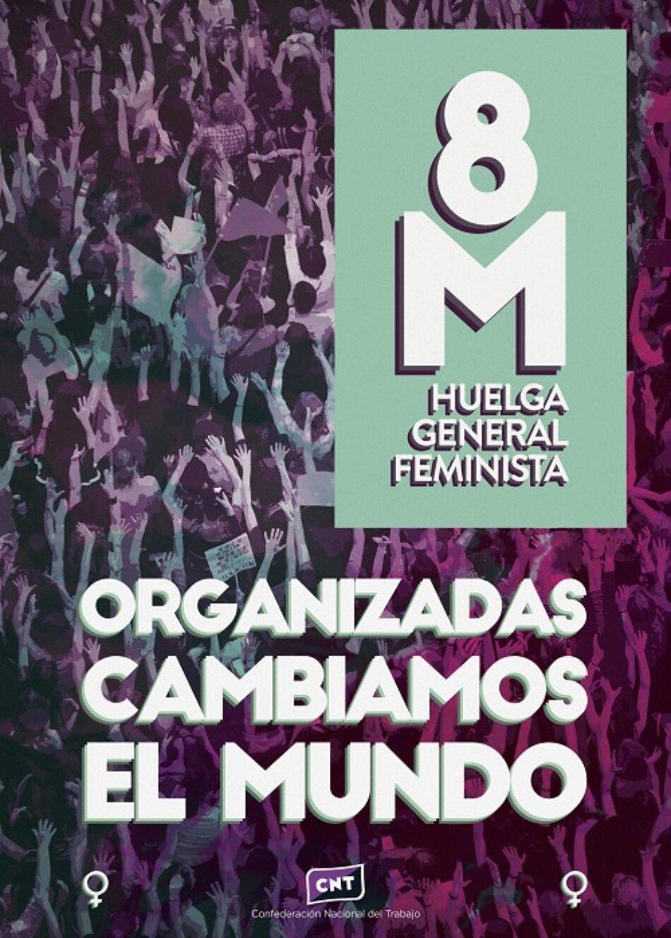 CNT considera abusivos los servicios mínimos y presenta las convocatorias para la huelga general feminista del 8M