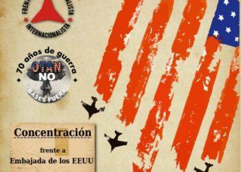 Concentración en Madrid: «70 años de guerra. OTAN no, bases fuera»