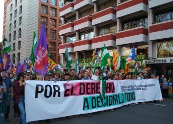 El independentismo catalán se manifiesta en Madrid