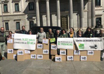 Recortes Cero – Grupo Verde presenta las candidaturas en las 52 circunscripciones con 80 mil firmas