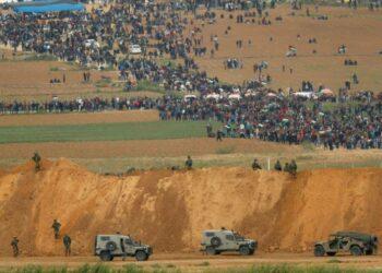 Gaza se manifiesta en el primer aniversario de la Gran Marcha del Retorno