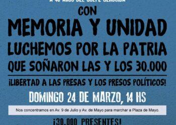 Argentina conmemora el golpe de estado de 1976