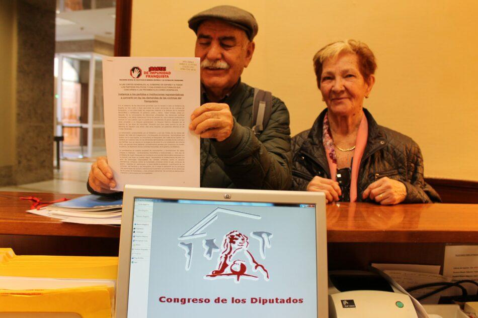 «Instamos a los partidos e instituciones representativas  a convertir en ley las demandas de las víctimas del franquismo»