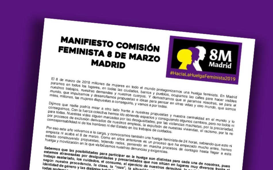Comisión 8M: actividades y manifestación y día de Huelga Feminista en Madrid