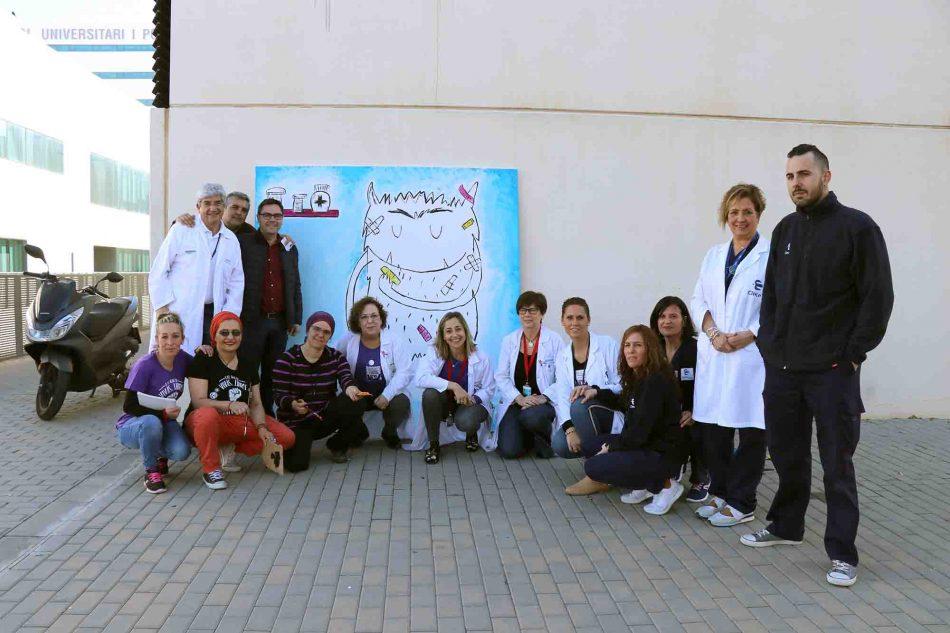 El 8 de marzo, un nuevo mural en la Avenida del Niño del Hospital La Fe reivindica el papel de las trabajadoras de la limpieza