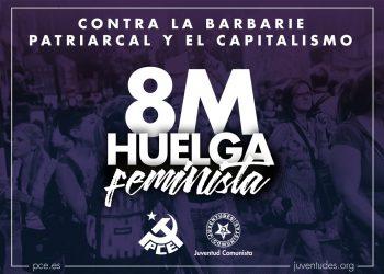 """El PCE y la UJCE de León llaman a la huelga feminista del 8 de marzo: """"nuestros derechos no se tocan"""""""