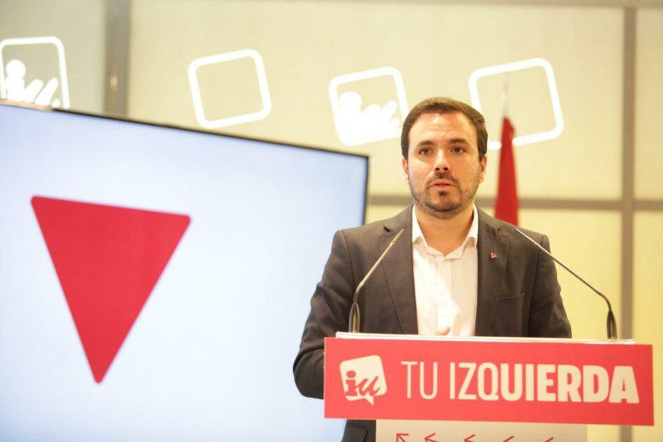 """Garzón sitúa a IU y Unidas Podemos como única garantía para enfrentarse a la """"amenaza reaccionaria"""" de la derecha"""