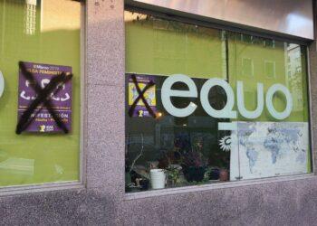 EQUO condena las pintadas antifeministas realizadas en su sede y reitera su apoyo a la huelga feminista y a las manifestaciones del 8M