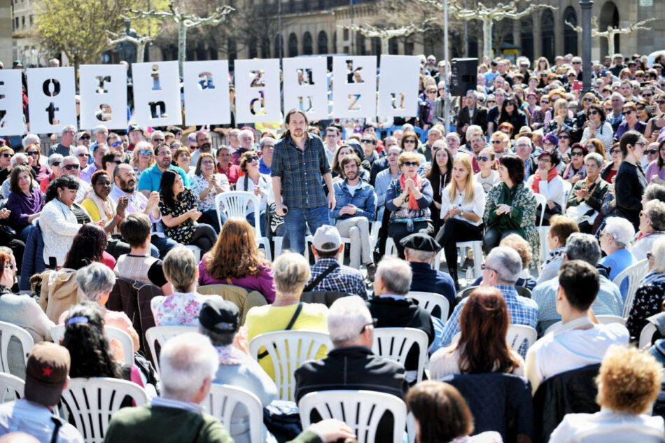 Pablo Iglesias: «Si gobernamos, los bancos van a  devolver euro por euro a las familias»
