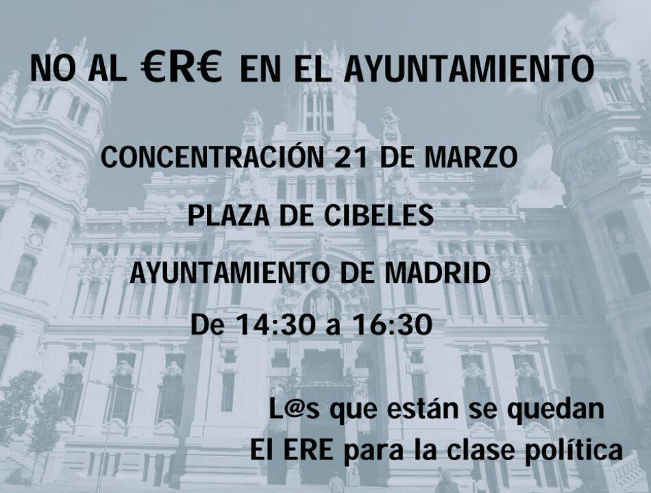 La plataforma de trabajadores/as temporales del Ayuntamiento de Madrid convoca concentración en Cibeles el 21 de marzo
