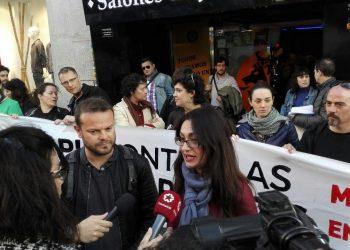 Madrid en Pie protesta contra las casas de apuestas en Vallecas