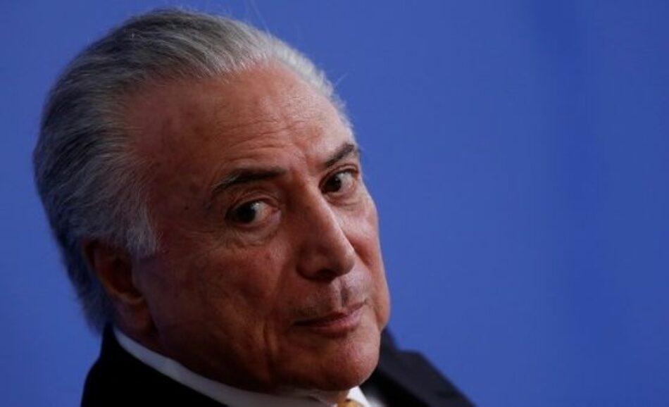 Michel Temer es detenido en Brasil por caso Lava Jato