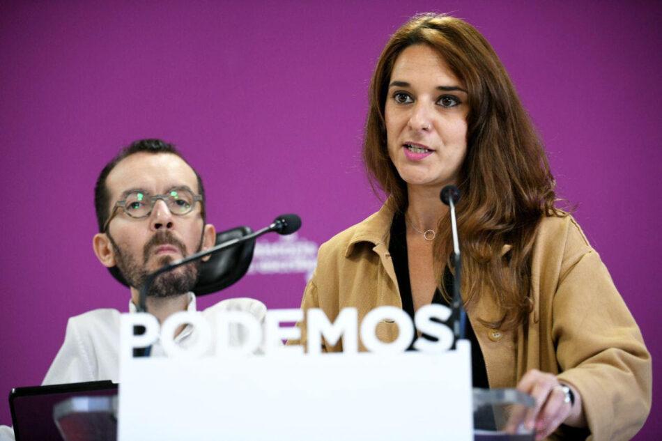 Unidas Podemos propone prohibir a bancos y fondos de inversión tener acciones en medios de comunicación y financiar campañas electorales