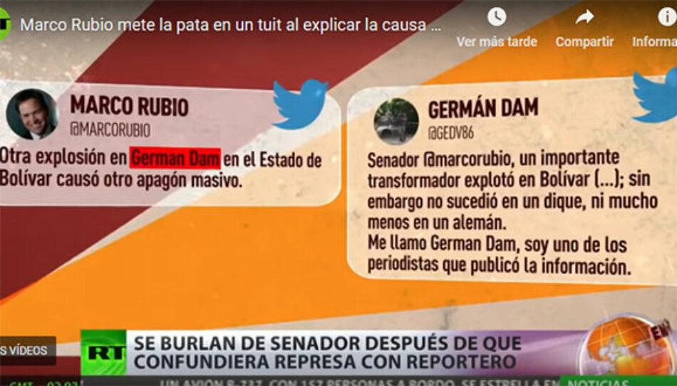"""Marco Rubio afirma que causa del apagón fue la explosión en un """"dique alemán"""" (que no existe)"""