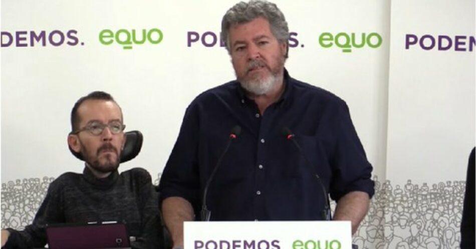 Las bases de EQUO ratifican el acuerdo con Unidas Podemos para concurrir a las próximas Elecciones Generales