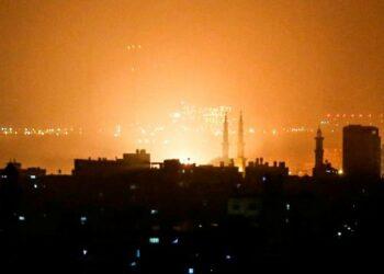 Aviación israelí ataca objetivos en la Franja de Gaza